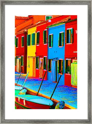 Framed Print featuring the photograph Primary Colors Of Burano by Donna Corless