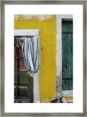 Primary Colours Of Burano Framed Print