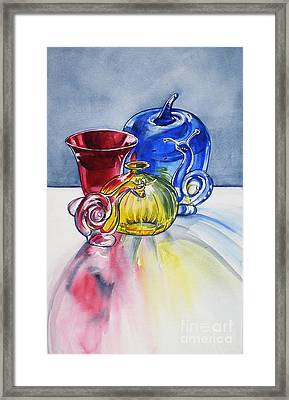 Primary Glass Framed Print
