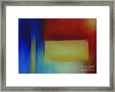 Primary Framed Print by Leila Atkinson