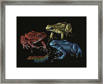 Primary Poison Framed Print by Amy S Turner