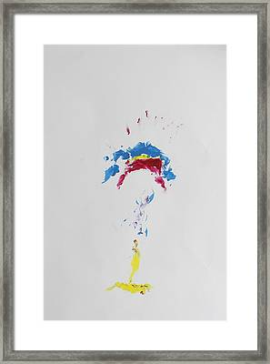 Primary Simple Genius Framed Print by Contemporary Michael Angelo