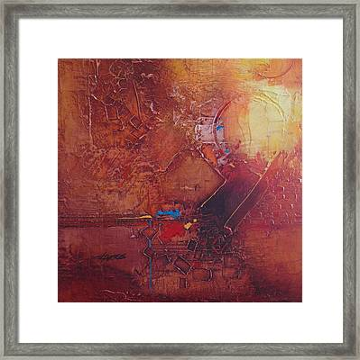 Framed Print featuring the painting Primarysquared by Helen Harris