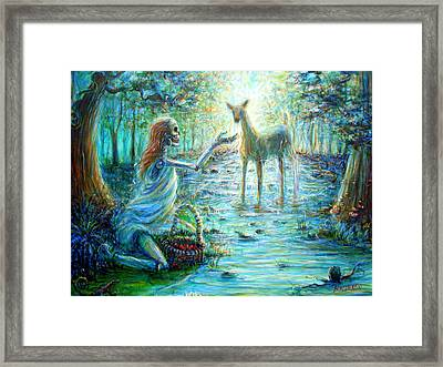 Framed Print featuring the painting Primavera Forest Of New Life by Heather Calderon
