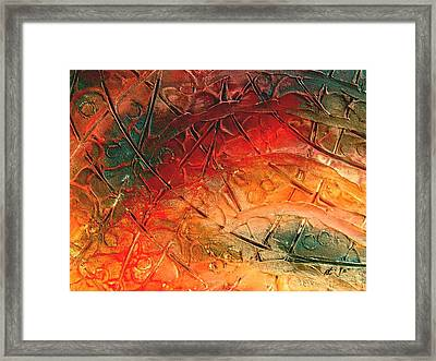 Primitive Abstract 1 By Rafi Talby Framed Print by Rafi Talby