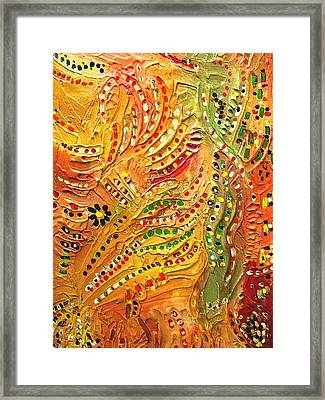 Primitive Abstract 3 By Rafi Talby Framed Print by Rafi Talby