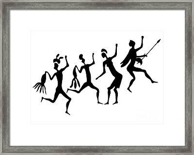 Primitive Art - Various Figures Framed Print