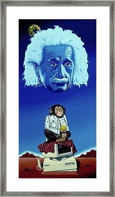Framed Print featuring the painting Primitive Daydream by Paxton Mobley