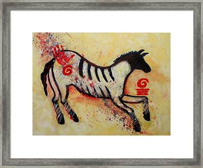 Primitive Little Horse Framed Print