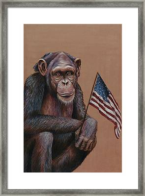 Primitive Patriotism Framed Print by Jim Figora