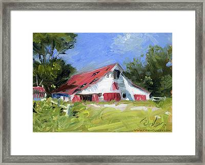 Primm-owen Barn In Brentwood Tennessee Framed Print