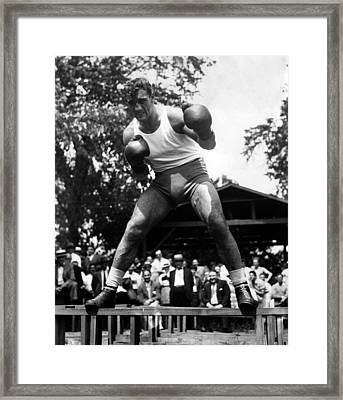 Primo Carnera At His Training Camp Framed Print