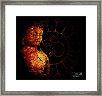 Primordial Aum Framed Print