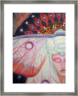 Primordial Cell Dreaming Framed Print by Janelle Schneider