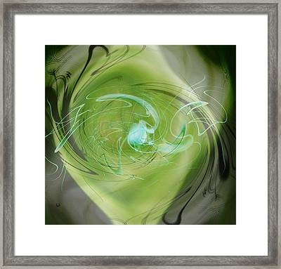 Framed Print featuring the digital art Primordial Soup Abstract by rd Erickson