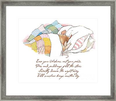Primrose Goes To Sleep Framed Print