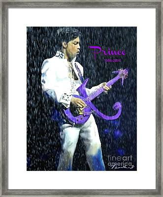 Prince 1958 - 2016 Framed Print by Vannetta Ferguson