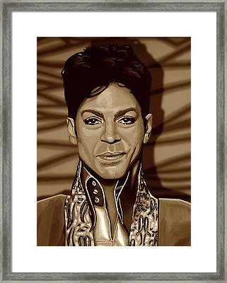 Prince 2 Gold Framed Print