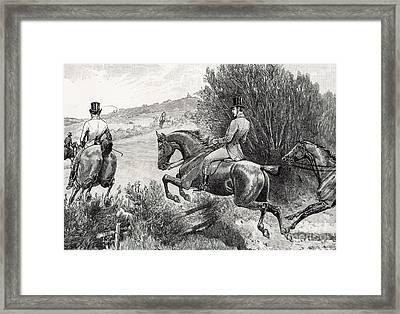 Prince Albert Hunting Near Belvoir Castle  Framed Print by English School