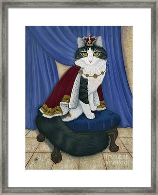 Prince Anakin The Two Legged Cat - Regal Royal Cat Framed Print