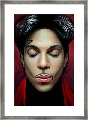 Prince Artwork 2 Framed Print by Sheraz A