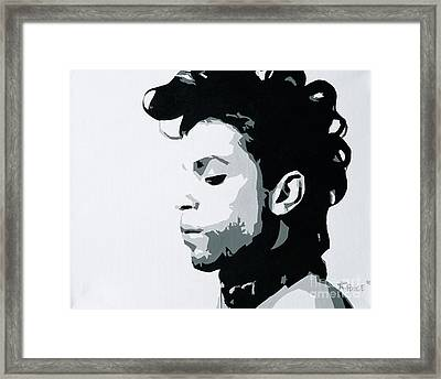 Framed Print featuring the painting Prince by Ashley Price