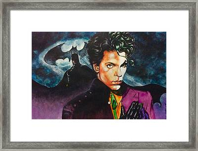 Prince Batdance Framed Print by Darryl Matthews