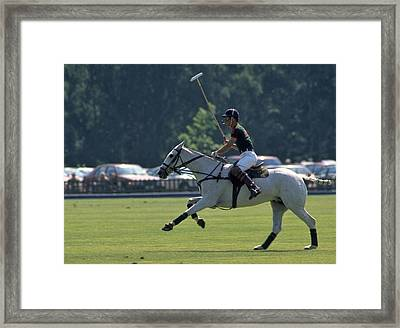 Prince Charles Playing Polo At Windsor Framed Print