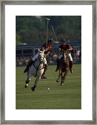 Prince Charles Playing Polo Framed Print