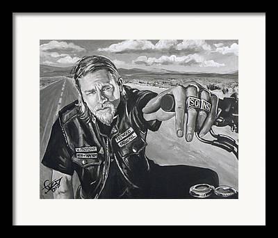 Charlie Hunnam Framed Prints