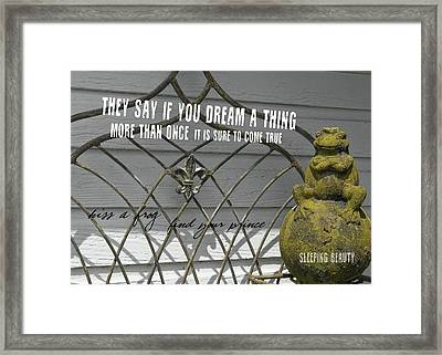 Prince Charming Quote Framed Print by JAMART Photography