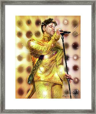 Prince Diamonds And Pearls Framed Print by Reggie Duffie