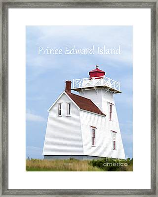 Prince Edward Island Lighthouse Poster Framed Print by Edward Fielding