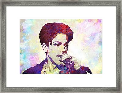 Prince Framed Print by Elena Kosvincheva