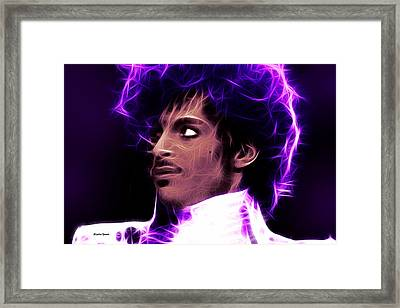Framed Print featuring the digital art Prince - His Royal Badness by Stephen Younts