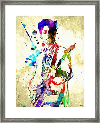 Prince In Concert Framed Print by Daniel Janda