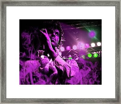 Prince In Concert Framed Print by Solomon Barroa