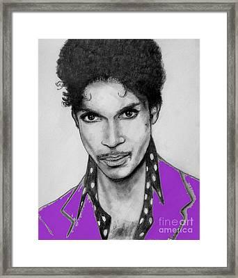 Prince In Purple Framed Print
