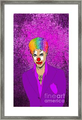 Framed Print featuring the drawing Prince by Jason Tricktop Matthews