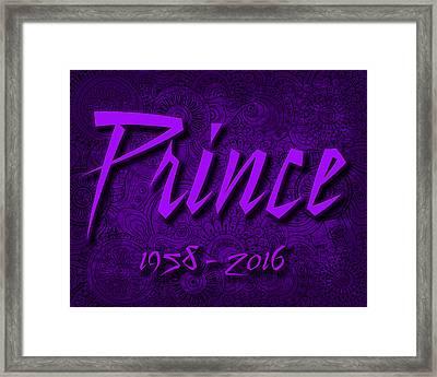 Prince Memorial Framed Print