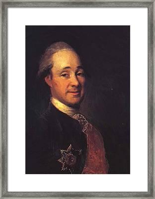 Prince Mikhail Shcherbatov 1781 Framed Print