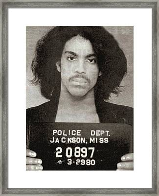 Prince Mug Shot Vertical Framed Print by Tony Rubino