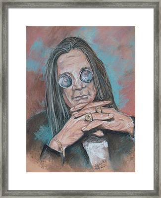 Prince Of Darkness Framed Print by Sandra Valentini