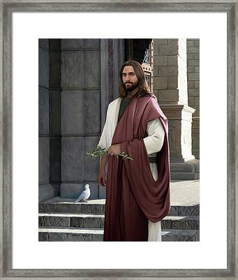Prince Of Peace Framed Print by Brent Borup