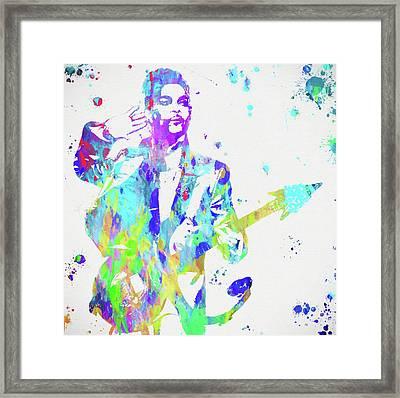 Prince Paint Splatter Framed Print by Dan Sproul