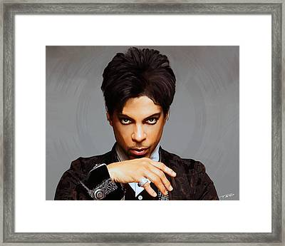 Prince Framed Print by Paul Tagliamonte