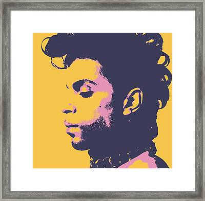 Prince Pop Art Framed Print by Dan Sproul
