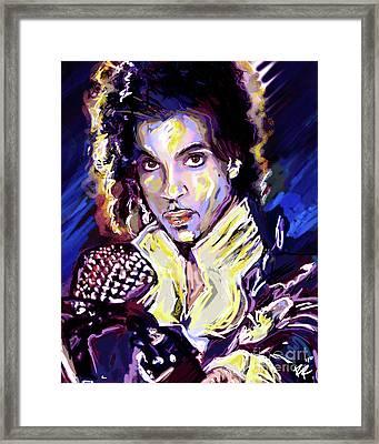 Prince Purple Rain Art Framed Print