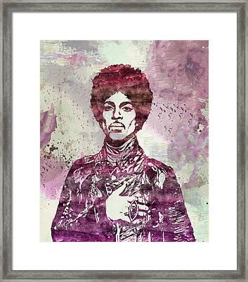 Prince - Purple Rain Framed Print by - BaluX -