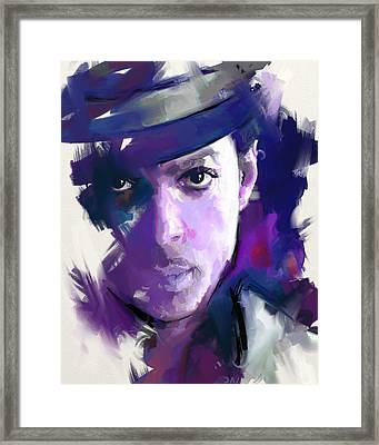Prince Framed Print by Richard Day
